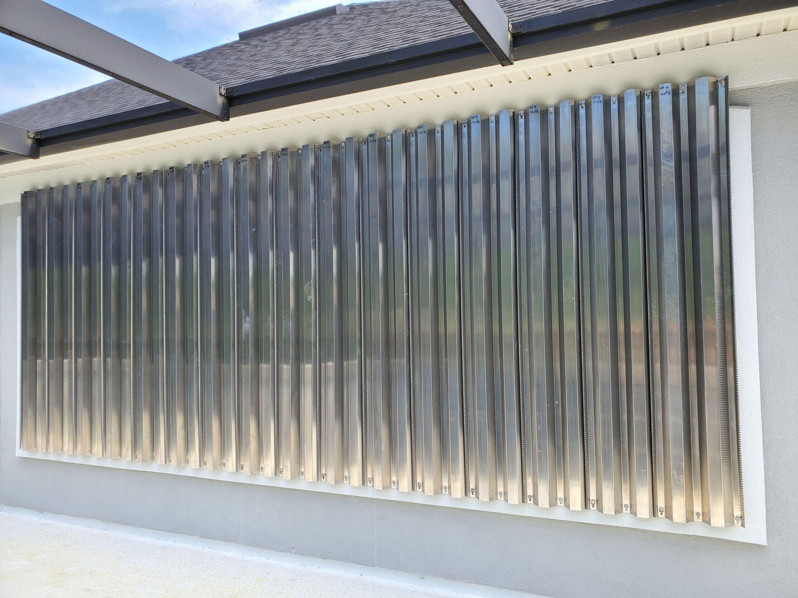 James Durban - laing aluminum panels after